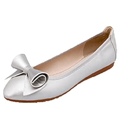 c673b5451487 Ohmais Chaussure femme cérémonie Ballerines femme à bride Fête Demoiselle  d honneur Mariage Escarpin plat