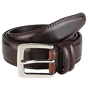 Men's Dress Belt ALL Genuine Leather Black Tan Cognac Brown 35mm All Sizes
