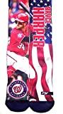Bryce Harper - Washington Nationals - MLB Mega Flag 2 Sublimation Crew Socks Size Medium 5-10