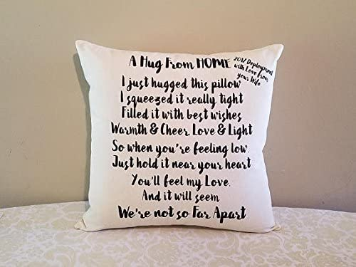 Amazon.com: Missing You Gift Pillow, Deployment Gifts, Homesick Gifts, Gifts for Deployed Boyfriend, Gifts for Deployed Husband, Gifts for Deployed Wife: ...