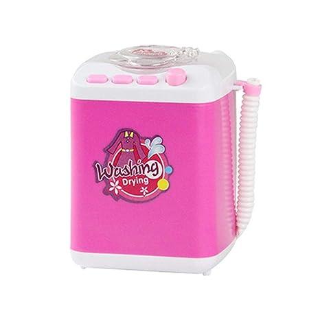 Lavadora eléctrica de juguete para niños Lavadora pequeña de color ...