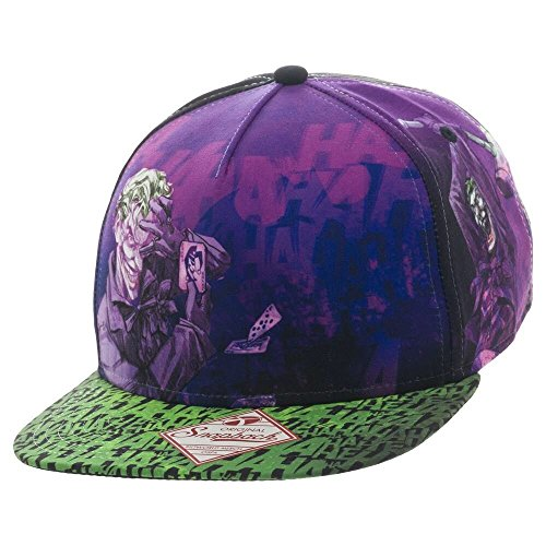 6142a0f3725 DC Joker All-Over Print Trucker Hat Standard at Amazon Men s Clothing store