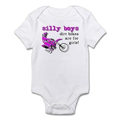 c2f1c88c3 CafePress Dirt Bikes are for Girls Motocross Baby Bodysuit