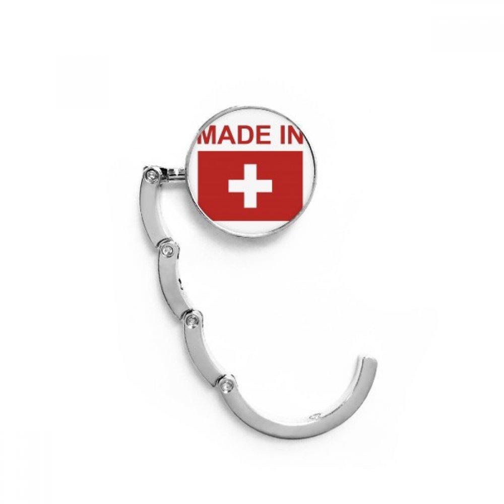 Made In Switzerland Country Love Table Hook Folding Bag Desk Hanger Foldable Holder