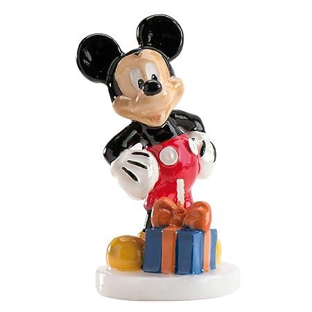 dekora 346027 Vela Grandes de Cumpleaños Mickey Mouse, Cera, Multicolor, 8