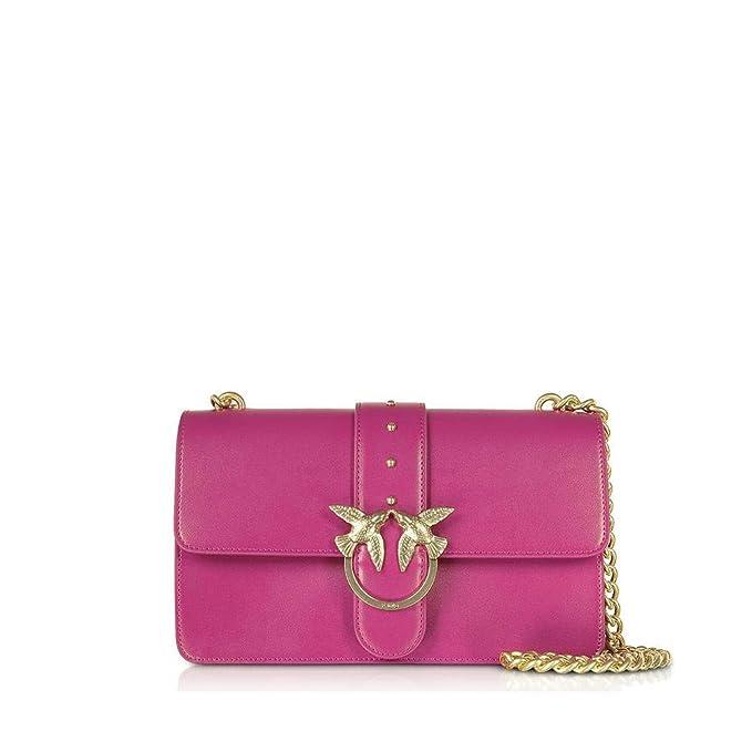 Pinko 1P216U Y4YM LOVE SIMPLY 5 Borsa Donna Fuxia UNI  Amazon.it   Abbigliamento 409a6850c50