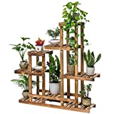 ALUS- Balcony Flower Racks Living Room Multilayer Indoor Solid Wood Shelf Landing Flower Pot Frame