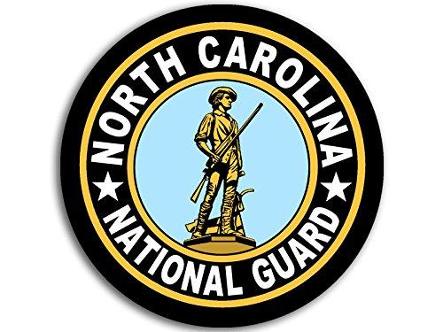 (American Vinyl Round North Carolina National Guard Seal Sticker (Logo Insignia Army))