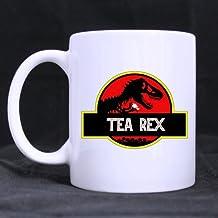 Top Funny Coffee Mug - Tea Rex Theme Coffee Mug or Tea Cup,Ceramic Material Mugs,White - 11oz