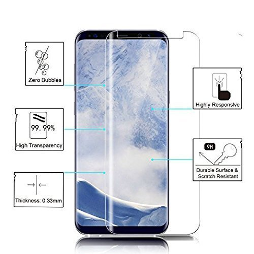 Huawei Glass Screen Protector, Loopilops Huawei [63H Hardness] [Advanced Definition] [Scratch Resistance] [Bubble Free] Tempered Glass Screen Protector