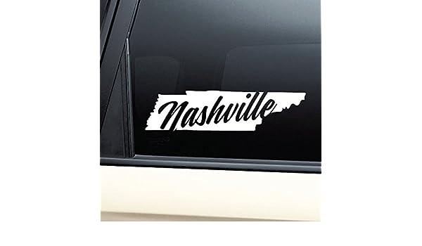 Amazon com nashville tennessee tn vinyl decal laptop car truck bumper window sticker automotive