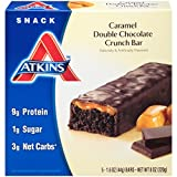 Atkins Caramel Double Chocolate Crunch, 5 Count (Pack of 6)