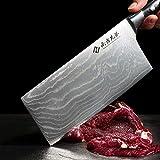 """Damascus Cleaver Knife, 7"""" Japanese VG10"""
