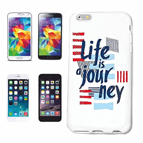 """cas de téléphone iPhone 6S """"LA VIE EST UN PARCOURS LA VIE EST UN HOLIDAY TRIP"""" Hard Case Cover Téléphone Covers Smart Cover pour Apple iPhone en blanc"""