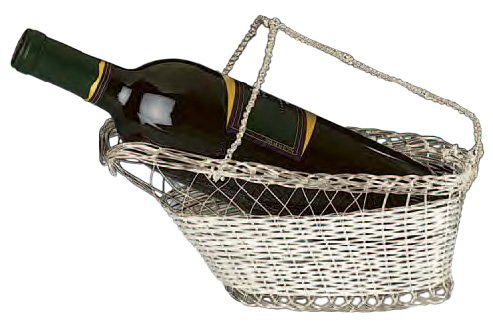 Silver Plated Wine Bottle Cradle - Wine Caddy or Pourer