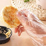 ❤Ywoow❤ Gloves , 100pcs Plastic Disposable Gloves Restaurant Home Service Catering Hygiene