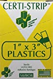 "Adhesive Bandage Certi-Strips 1"" x 3"" Plastic"
