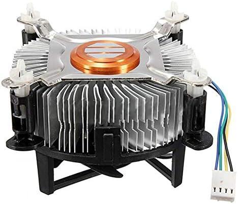 Appearancees Material de Aluminio Enfriador del Ventilador de refrigeración de la CPU para computadora PC Silencioso Silencioso Ventilador del Ventilador para 775/1155/1156