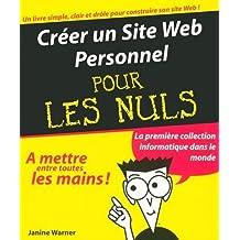 Creer un site web personnel pour.. nuls