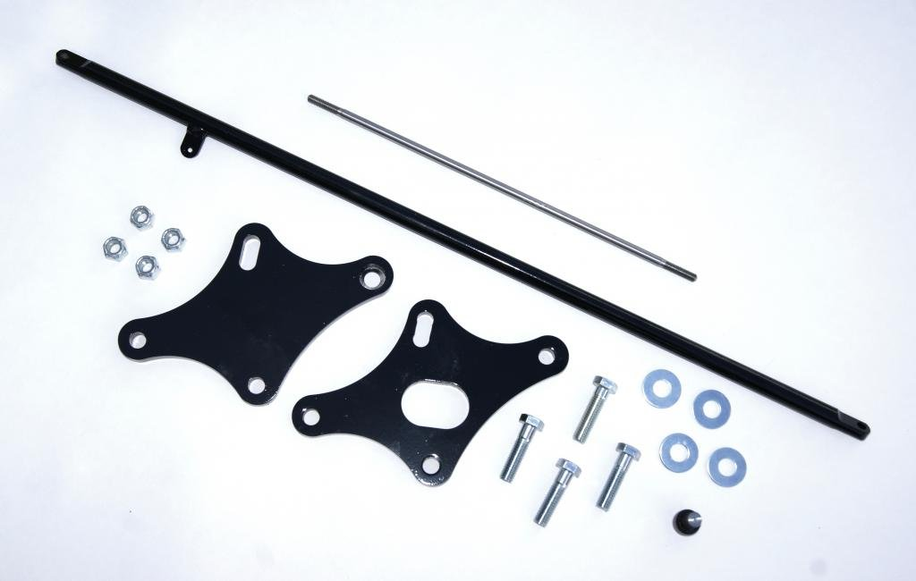 Yamaha V-Star 650 4'' Forward Control Extension Kit - Black Powder Coat, Stainless Steel Extension Depot