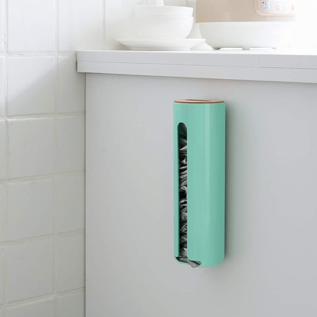 Onefa Grocery Plastic Bag Holder Wall Mount Cute Storage Box Dispenser Kitchen Organizer