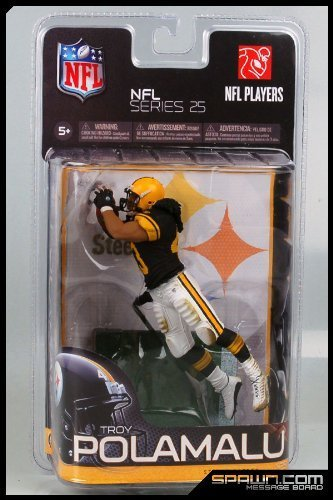 Troy Polamalu Game (McFarlane Toys NFL Sports Picks Series 25 Exclusive Action Figure Troy Polamalu (Pittsburgh Steelers) Black Jersey Retro Uniform)