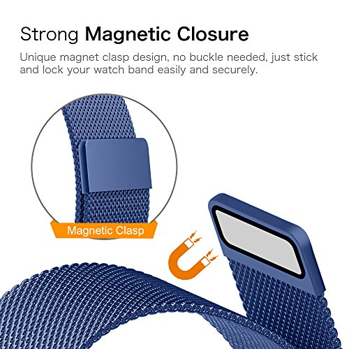 Gear Sport / Gear S2 Classic Watch Band, Fintie 20mm Milanese Loop Adjustable Stainless Steel Replacement Strap Bands for Samsung Gear Sport / Gear S2 Classic Smartwatch - Navy Photo #6