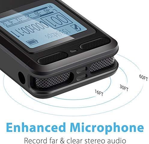 Grabadora de voz digital EVISTR de 16 gb para conferencias ...