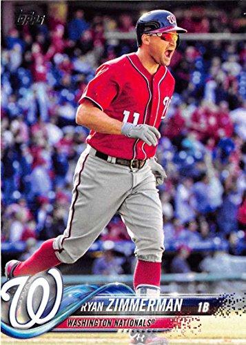 2018 Topps #58 Ryan Zimmerman Washington Nationals Baseball Card (Ryan Zimmerman Baseball)