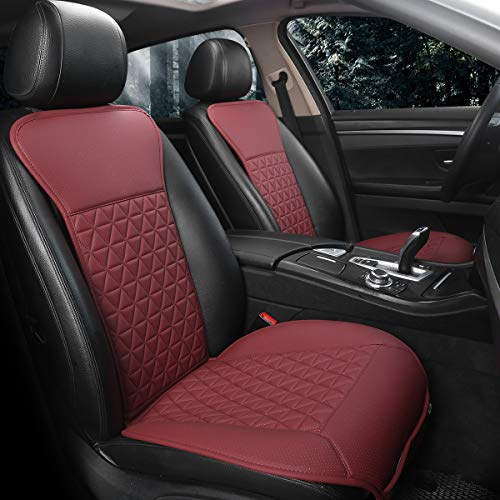red and black seat covers - 5