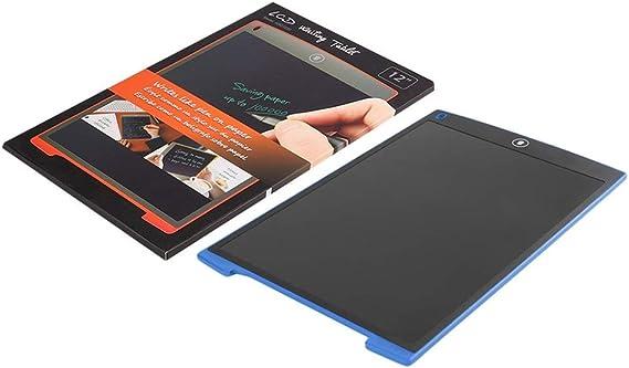 12インチLCD書き込みタブレットデジタルミニ描画タブレット手書きパッドポータブル電子超薄型タブレットボード(青)