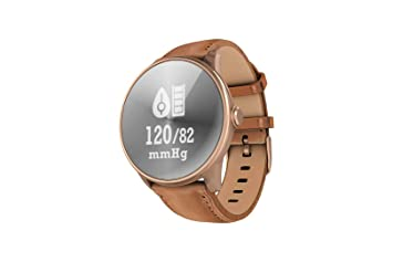 TDOR Reloj Inteligente Hombre iOS y Android Correa de Polipiel ...