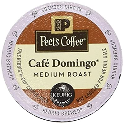 Peet's Coffee K Cup Cafe Domingo, 10 Count (Pack of 6)