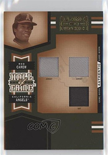 Rod Carew #/25 (Baseball Card) 2005 Donruss Prime Patches - Hall of Fame - Triple Swatch Prime #HF-8 ()