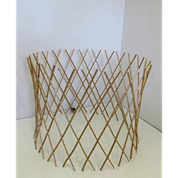 This Item Master Garden Products Peeled Willow Circular Lattice Fence, 24  By 36 Inch, Light Mahogany Color