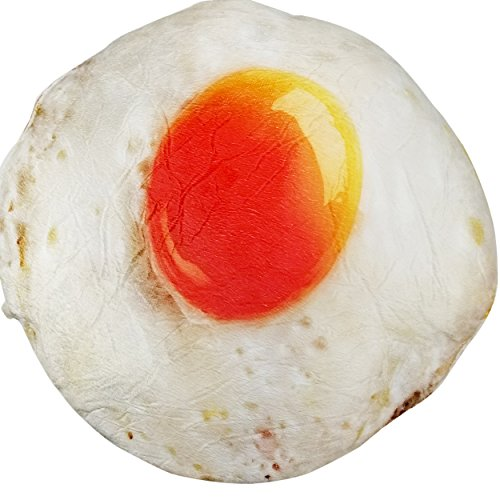 (Soft Food Plush Novelty Throw Pillows Funny Junk Food Stuffed Plush Pillow - Housewarming, White Elephant Prank Party Gifts Pillow Collections (Sunny Side Up Fried Egg))
