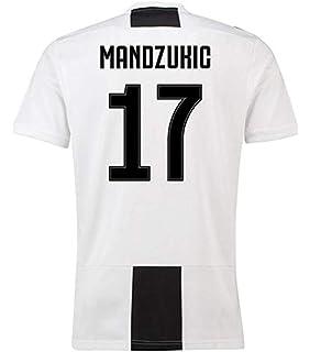 78e221253 LISIMKE Soccer Team 2018 19 Juventus Mandzukic 17 Home Mens Replica Shorts  Kid Youth Replica Jersey