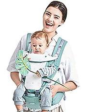 GBlife Mochila Portabebé Ergonómico Multifuncional 4 en 1 Fular Porta Bebé con Múltiples Posiciones Suave Ajustable para Niños