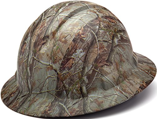Custom Camo (Pyramex HP54119 Ridgeline Full Brim 4 Pt Ratchet Hard Hat, Camo pattern)