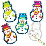 Blocchetti natalizi con allegri pupazzi di neve. Block-notes perfetti per riempire calze natalizie e sacchetti regalo per feste di bambini (confezione da 8)