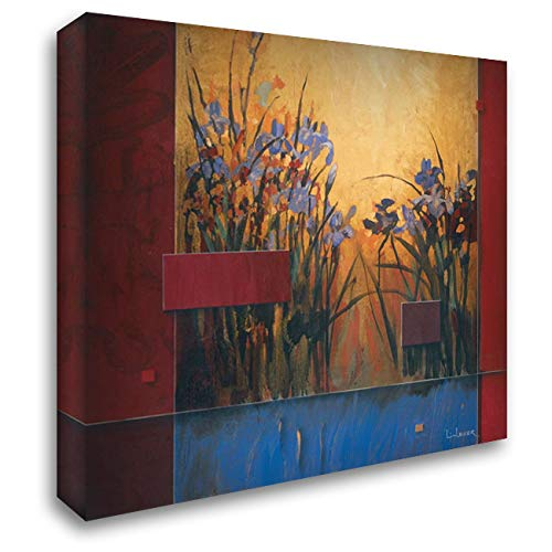 Iris Sunrise 52x52 Extra Large Gallery Wrapped Stretched Canvas Art by Li-Leger, - Iris Don Li Leger