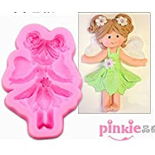 Pinkie Tm Elf girl Shaped silicone Soap Mold,Resin Clay Chocolate Candy Silicone Cake Mould,Fondant Cake Decorating Tools