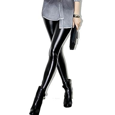 f09ecca156ea3 Laixing Sexy Full Length Leggings High Waist Latex Imitation Leather  TL-0801: Amazon.co.uk: Clothing