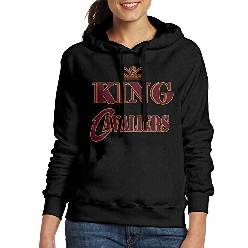 AUSIN Women's Cleveland Team Hoodie Black Size S
