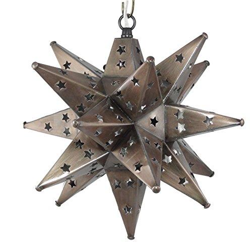 Moravian Star Light, Star Pierced Tin, Bronze , 12''