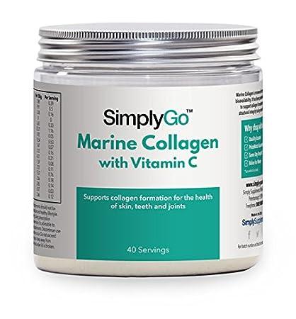 Colágeno marino con vitamina C 200gr - Colágeno en polvo de gran concentración - Articulaciones,