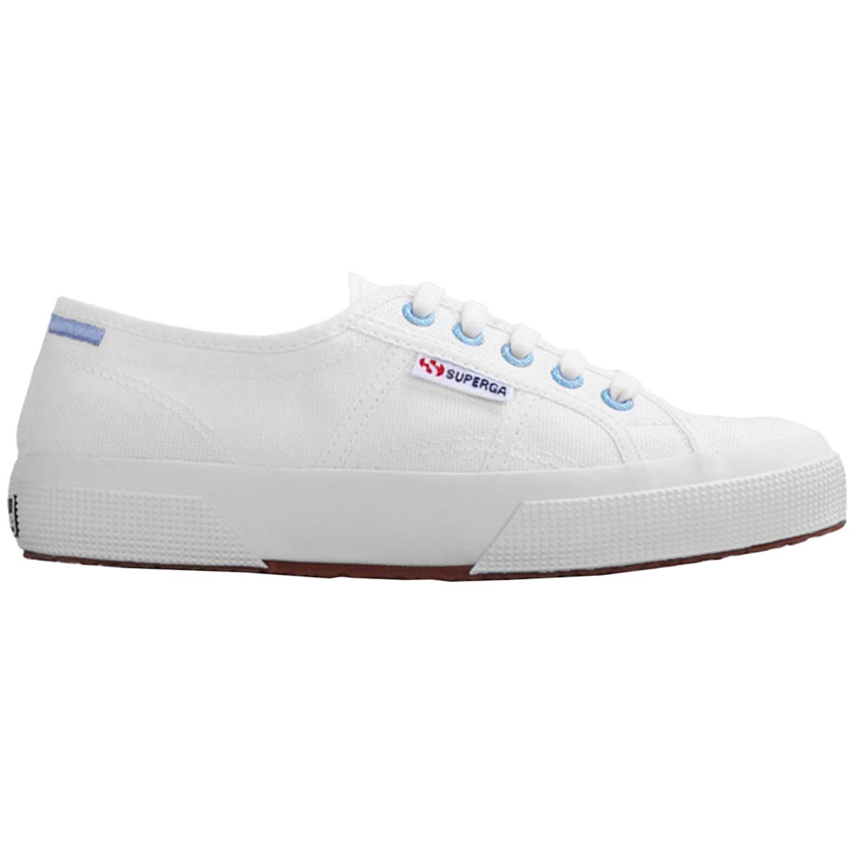 White Azure Erica Superga Womens 2750 Multicolour Details COTW Canvas Trainers