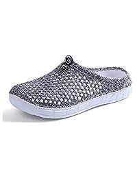 Women's Lightweight Garden Sandal Walking Mule Slippers Hole Clog Anti-Slip Beach Water Shoes