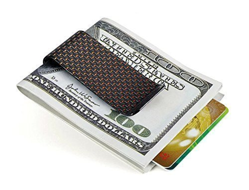 CL Carbonlife(TM) Carbon Fiber Glossy Money Clip Credit Card Business Card Holder Red M