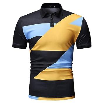 XJWDTX Camisa Polo De Moda Casual De Verano para Hombre.: Amazon ...